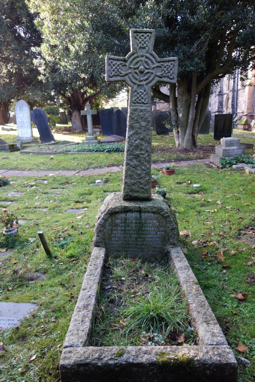 "The Celtic Cross marking Alfred Shaw's Grave</span><span style=""color: black; font-family: 'Segoe UI','sans-serif'; font-size: 8.5pt;\"">"
